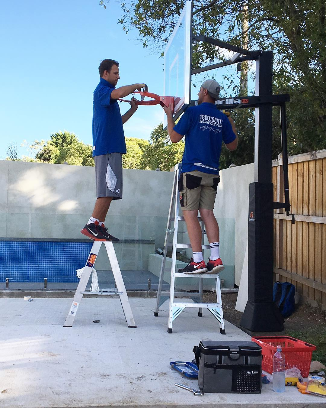 MSF Sports Basketball Court Installation - Call 1800 COURTS