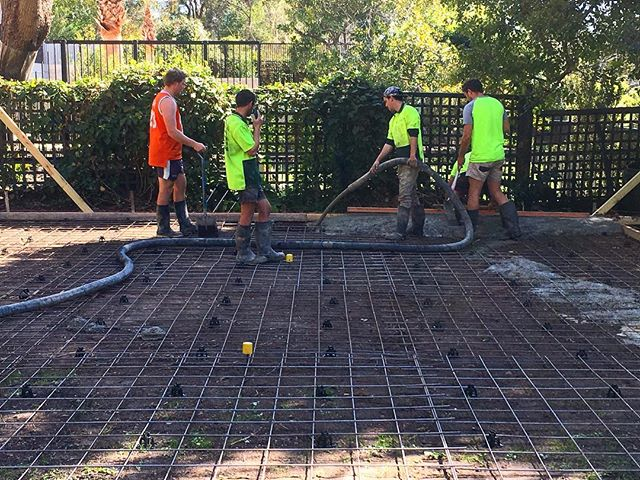 DIY Sports Court Backyard Concrete Pour
